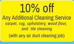 10% off any additional cleaning